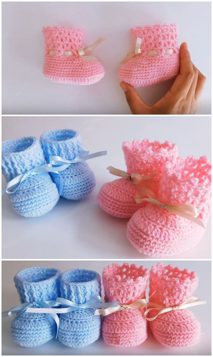 Crochet Lovely Baby Shoes Step By Step Video Tutorial