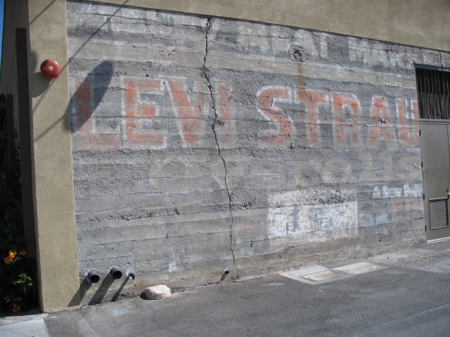 Ghost sign for Levi Strauss in Downtown Chandler