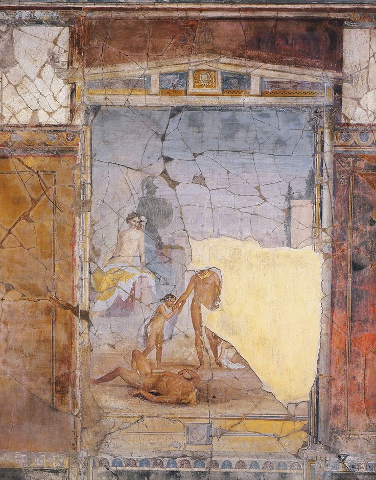 Theseus And The Minotaur   Ce Wall Painting Pompeii