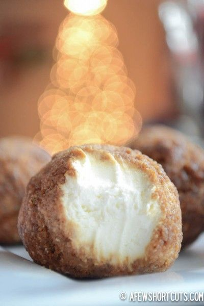 Gingerbread Cheesecake Bites-  Perfect for those last minute guests, late night snack or Santa's treat!