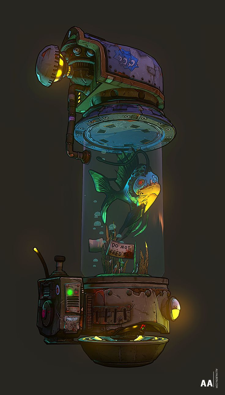 The Travelling Fish (Borderlands style) — polycount