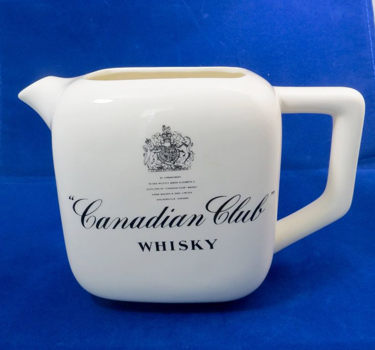 Vintage Canadian Club Whisky Pub Jug, Ceramic Whiskey Pitcher, Collectible Barware, Made in USA by Duckwells on Etsy