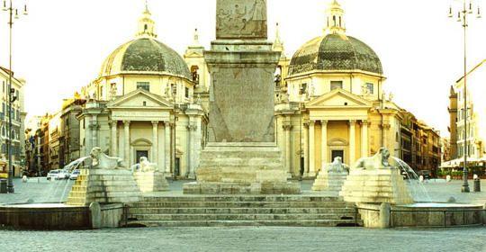Fontana dei leoni, Piazza del Popolo
