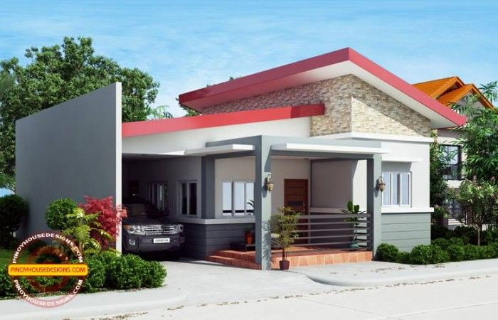 Dominic One Story House Plan Pinoy House Designs Pinoy House Designs Simple House Design One Storey House Cool House Designs