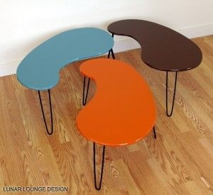 Retro Kidney Shaped Tables By Lunar Lounge Design