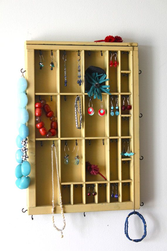 Small Printer Drawer Jewelry Display by bluebirdheaven on Etsy