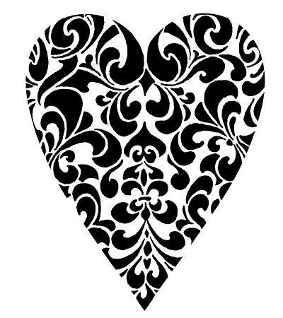 Damask Heart Stamp
