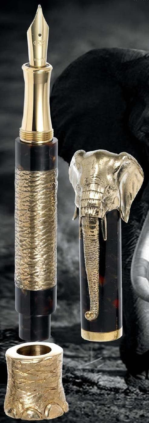 Beautiful elephant cap fountain Pen!