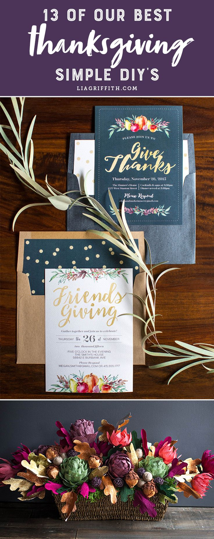 13 Simple Thanksgiving DIYs Diy IdeasDecor IdeasCraft