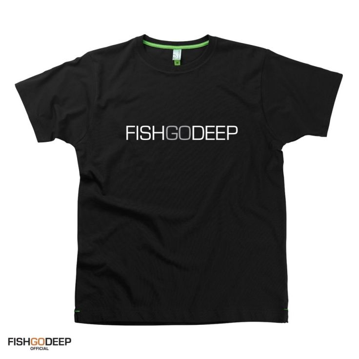 Fish Go Deep presents Fish Go Deep Text Logo t-shirts from HairyBaby.com