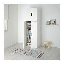 """STUVA Storage combination with doors - white/white, 23 5/8x19 5/8x75 5/8 """" - IKEA"""