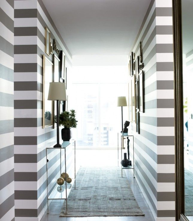 What better way to make a bold statement than to go with thick, colorful stripes?