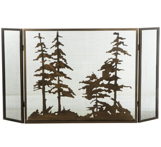 fire screens on pinterest trees stained glass fireplace screen an