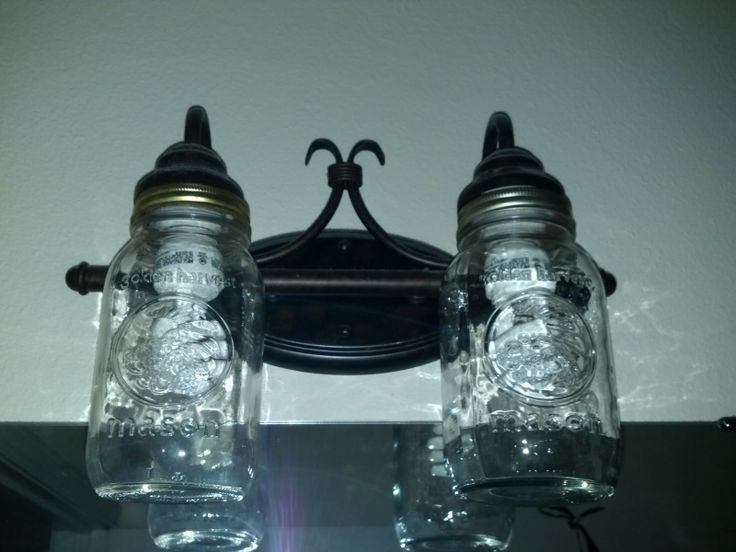 Fair mason jar light fixture instructions amazing - Mason jar bathroom light fixture ...