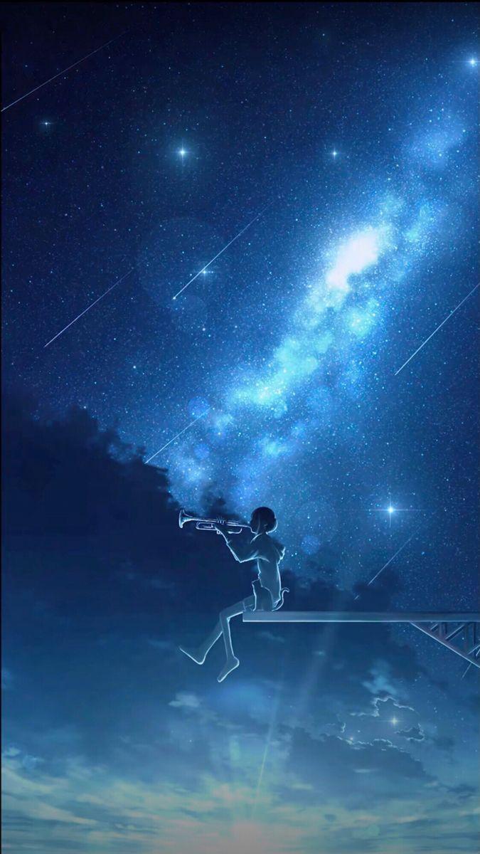 Aesthetic Anime Wallpaper Hd Starry Night Wallpaper Night Scenery Beautiful Wallpapers Backgrounds Aesthetic anime space wallpaper