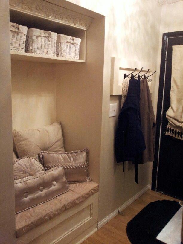 Our closet nook reno