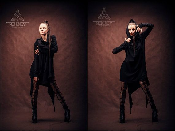 Black Friday!  10% discount on all products in black colour. Extraordinary Black oversize dress «Batto» – by NEOBY Design.