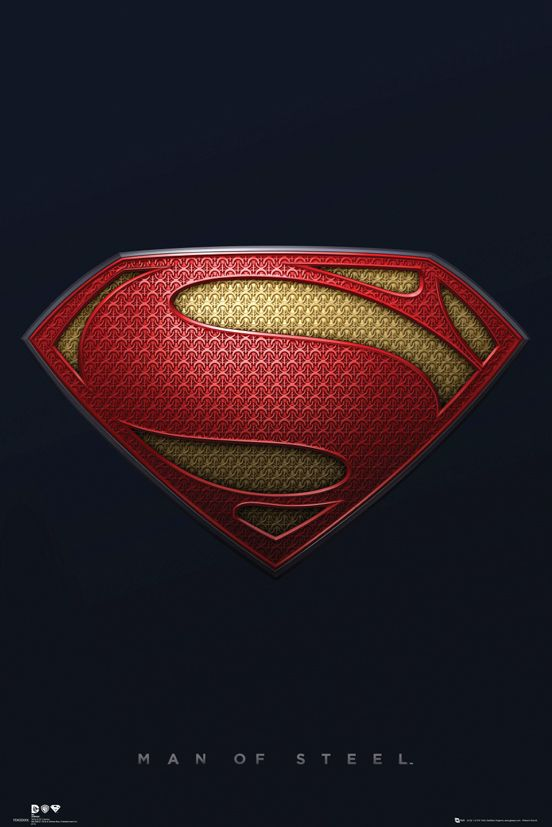 Man of Steel.  The S is not a letter, but a Kryptonian symbol.  Two schools of thought: It stands for the House of El and in the newest movie is defined as the symbol for Hope.  Symbolically the same thing.