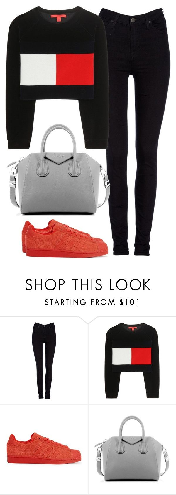 """Untitled #460"" by christyandnef on Polyvore featuring Lee, Tommy Hilfiger, adidas Originals, Givenchy, women's clothing, women, female, woman, misses and juniors"