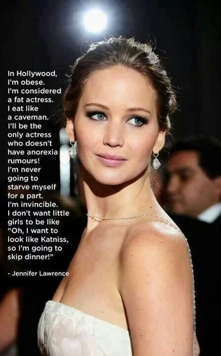 We LOVE Jennifer Lawrence; a fantastic role model for women of all ages, she exudes humor, confidence, and natural beauty!