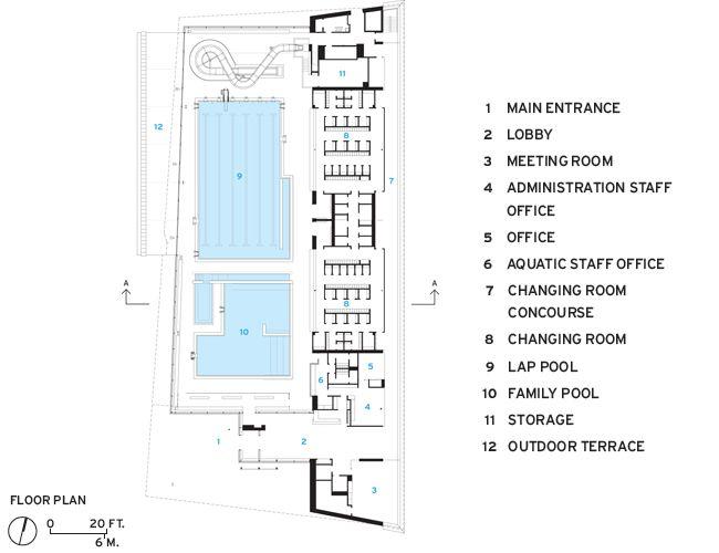 Regent park aquatic centre by maclennan jaunkalns miller architects floor plan aquatic center - Piscine couverte design le havre ...