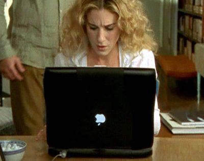 Tonight, while watching The West Wing,  I noticed that the apple used to be upside down on laptops.  Here's a story about why Steve Jobs turned the apple over.