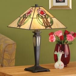 THE KEPPIE TIFFANY STYLE LARGE TABLE LAMP
