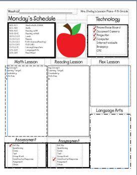 9 b sta bilderna om lektionsplanering p pinterest for Facebook lesson plan template
