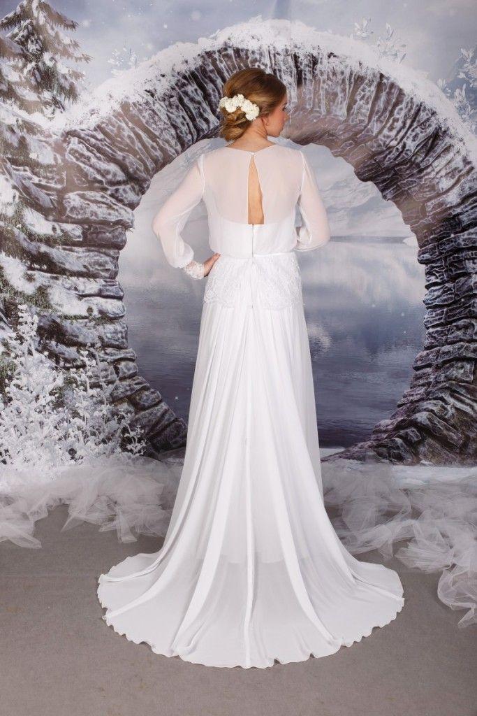 suknia ślubna biała prosta empire (2)