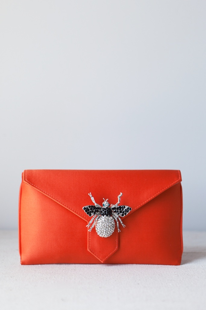 VIDA Leather Statement Clutch - A bees life by VIDA Vb89MdG