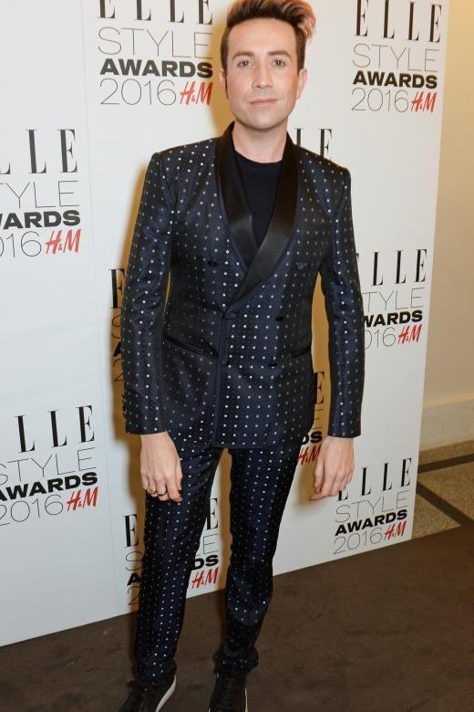 Schlafanzug-Look bei den Elle Style Awards: Der britische Fernsehmoderator Nick Grimshaw erschien in einem Dolce und Gabbana Anzug.