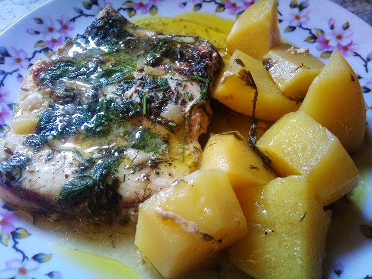 Olga's cuisine...και καλή σας όρεξη!!!: Ψάρι με πατάτες στην κατσαρόλα