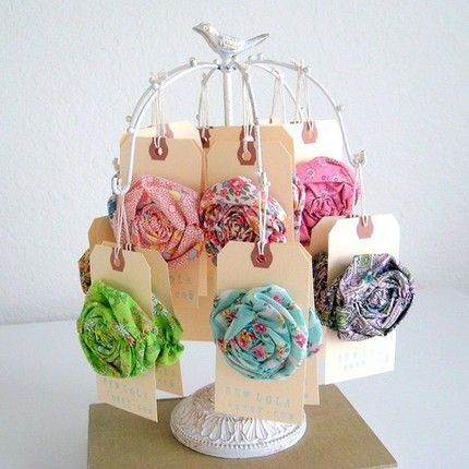 Shabby Chic - Brooch and Hair Pin
