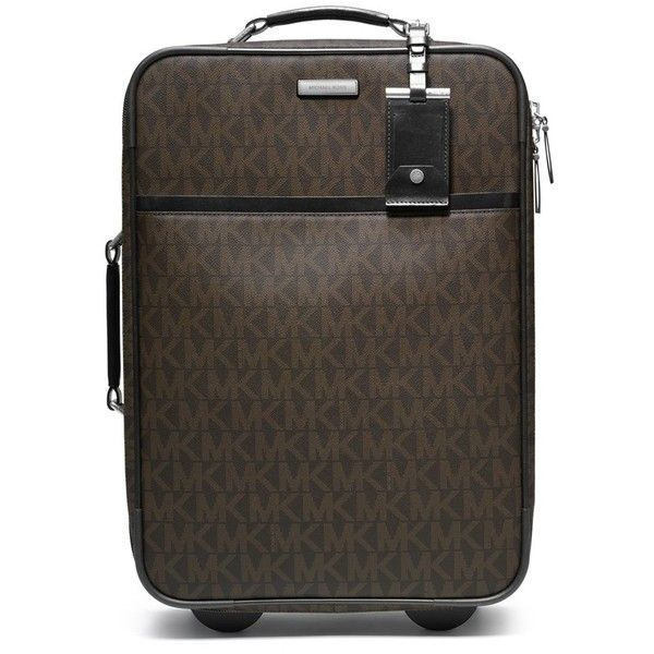 Women's MICHAEL Michael Kors 'Signature' Rolling Carry-On ($705) ❤ liked on Polyvore featuring bags, luggage and suitcase