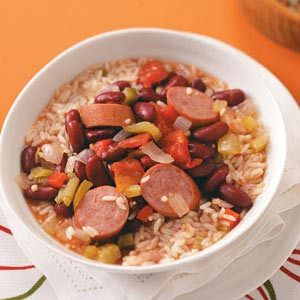 Louisiana Red Beans and Rice (in the slow cooker).