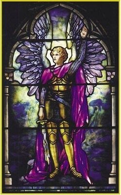 Arch Angel Michel set us free, set us free, set us free Blue flame light before behind us Blue flame light encircle round us Shatter all illusions Strip away delusions Blest Michael's might God's blue flame light. (3x)