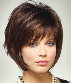 Short Hairstyle With Bangs for Brunette Hair