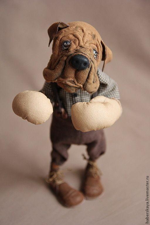"""Купить """"Мама, я тебя защитю"""" собака боксер - хаберская татьяна, Хаберская, собака, боксер, щенок"""