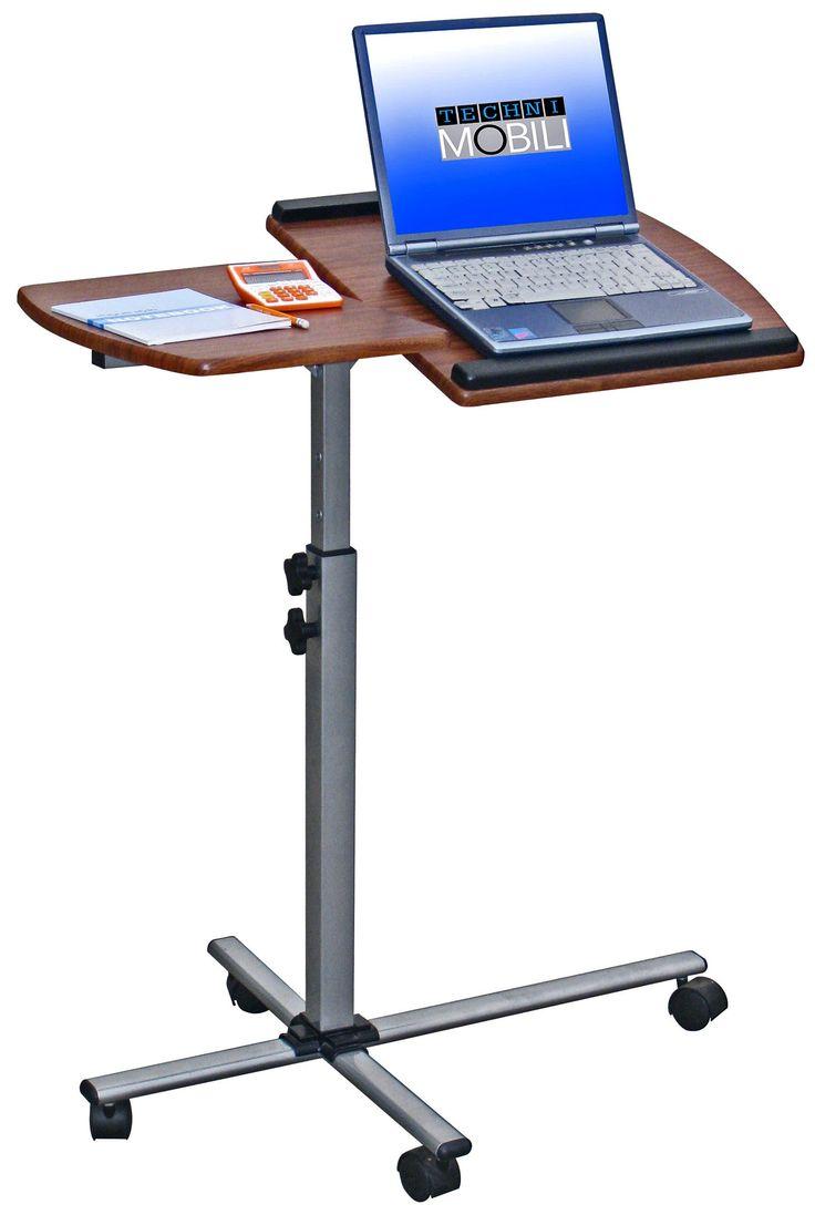 Rolling Adjule Laptop Cart