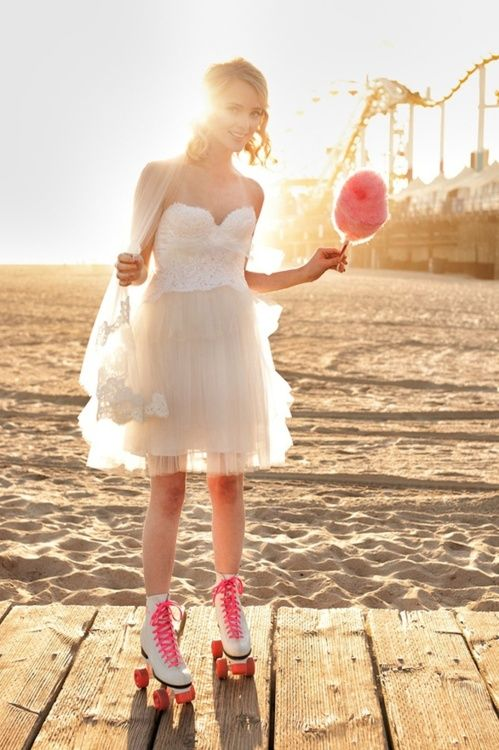 .: Bridal Shops, Cotton Candy, Bridal Photos, Rollers Skating, Photos Shoots, Fashion Photography, Romantic Dresses, The Dresses, Bridal Muse