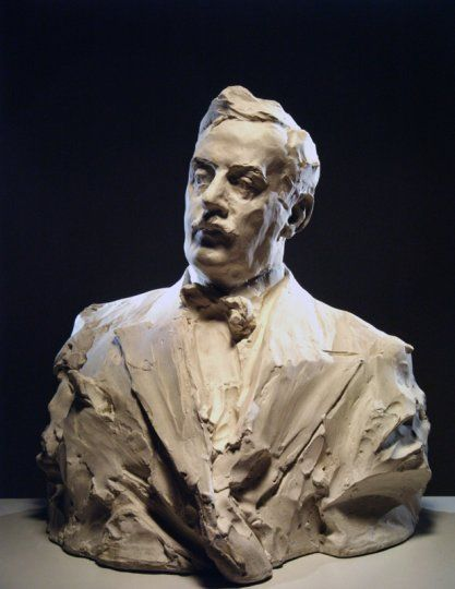 Portrait of Giacomo Puccini, datable 1912 by Prince Paul (Paolo) Troubetzkoy (Russian, 1866-1938) - plaster