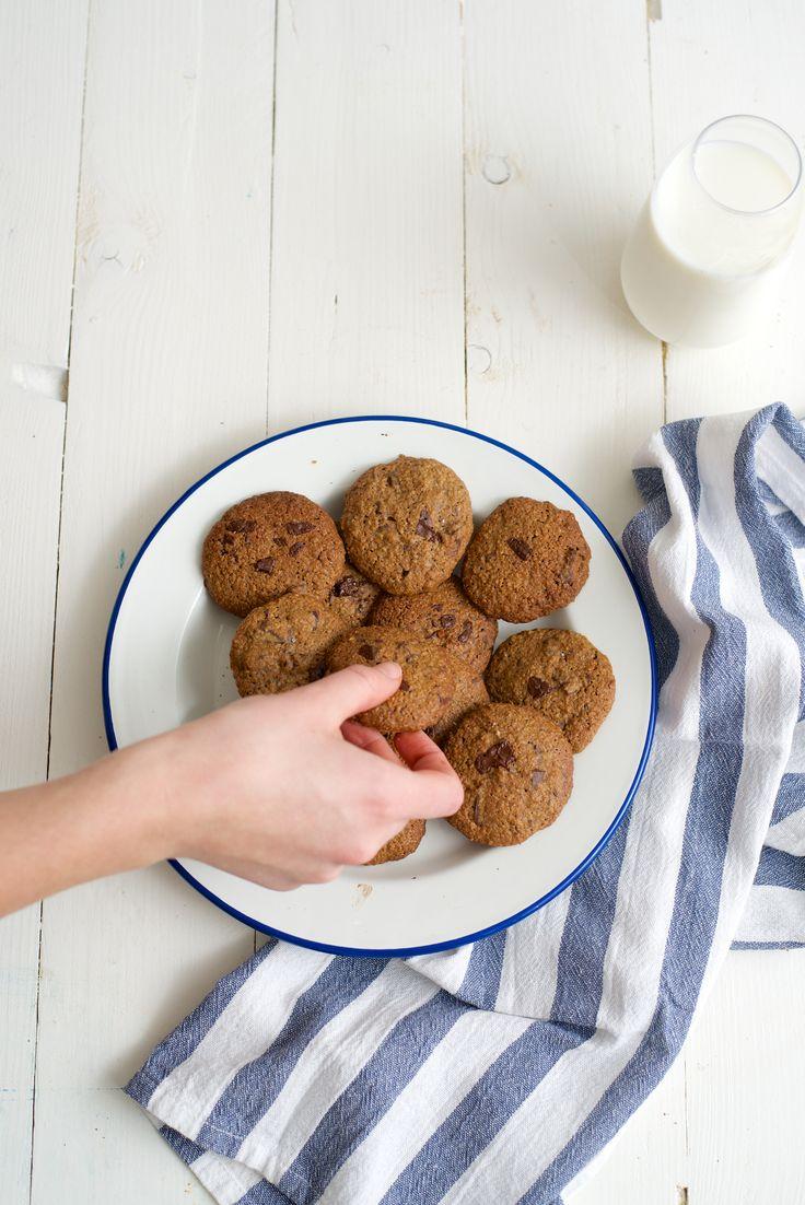Slanke chocolate chip cookies