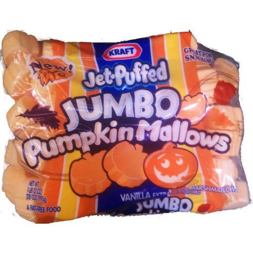 Kraft Jet Puffed Jumbo Giant 24 Oz Pumpkin Mallows Pumpki...