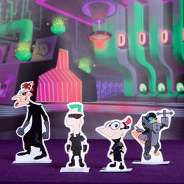 Phineas and Ferb Across the 2nd Dimension Playset to make into magnets