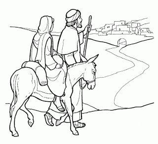 Kleurplaat: Naar Bethlehem