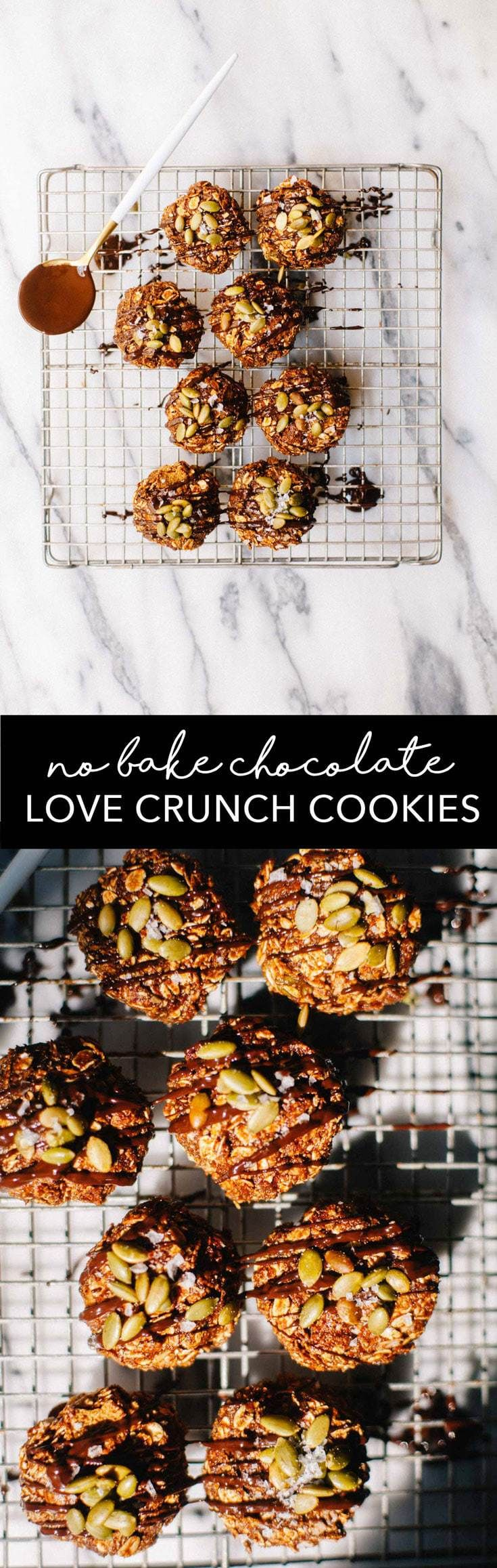 No-Bake Chocolate Love Crunch Cereal Cookies | Brewing Happiness Brewing Happiness