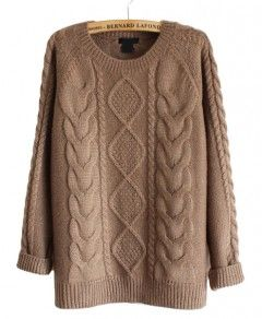 Retro Cable Knit Sweater