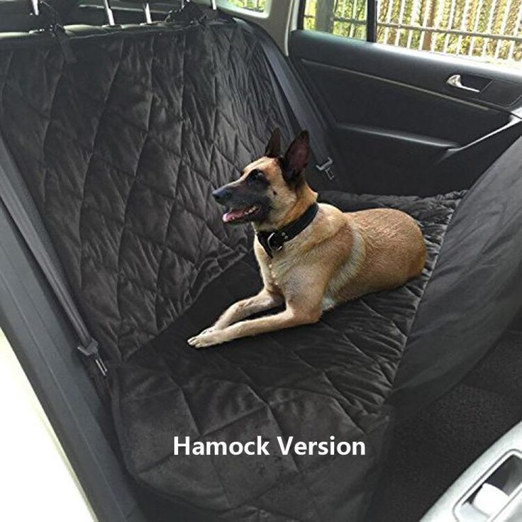 A great idea for when you take your dog for a swim or somewhere messy. An easy to clean car hammock for you dog! The Pet Habitat Store