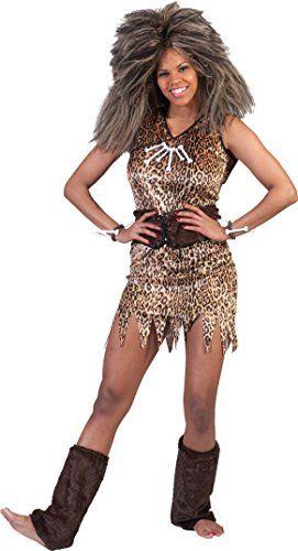 Damen Steinzeit Neandertaler Höhlenmensch Kostüm ca 27€ | Kostüm-Idee zu Karneval, Halloween & Fasching