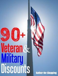 90+ Veteran and Military Discounts